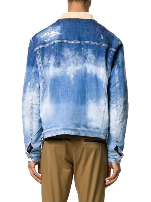 DSQUARED2 MEN'S TWO-TONE LAYERED JEAN JACKET