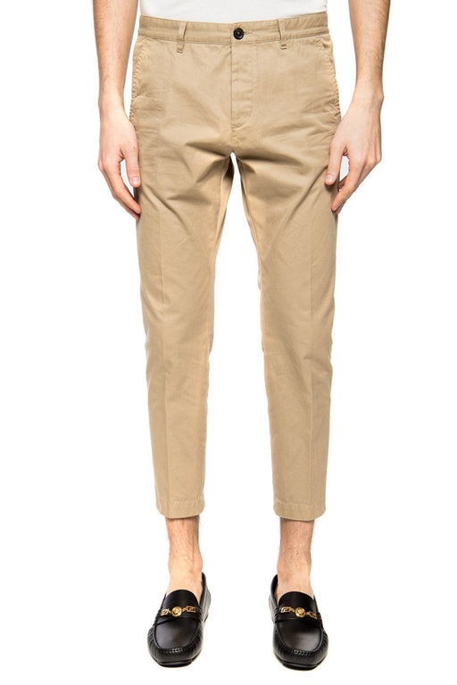 DSQUARED2 MEN'S COTTON TWILL CROPPED PANTS