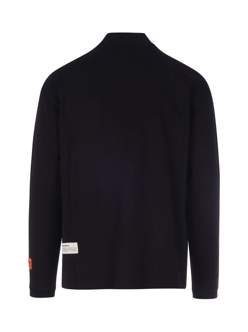 HERON PRESTON MEN'S MOCK NECK COTTON LONG SLEEVE