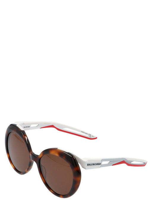BALENCIAGA WOMEN'S HYBRID BUTTERFLY SUNGLASSES - BROWN W/ WHITE ARMS
