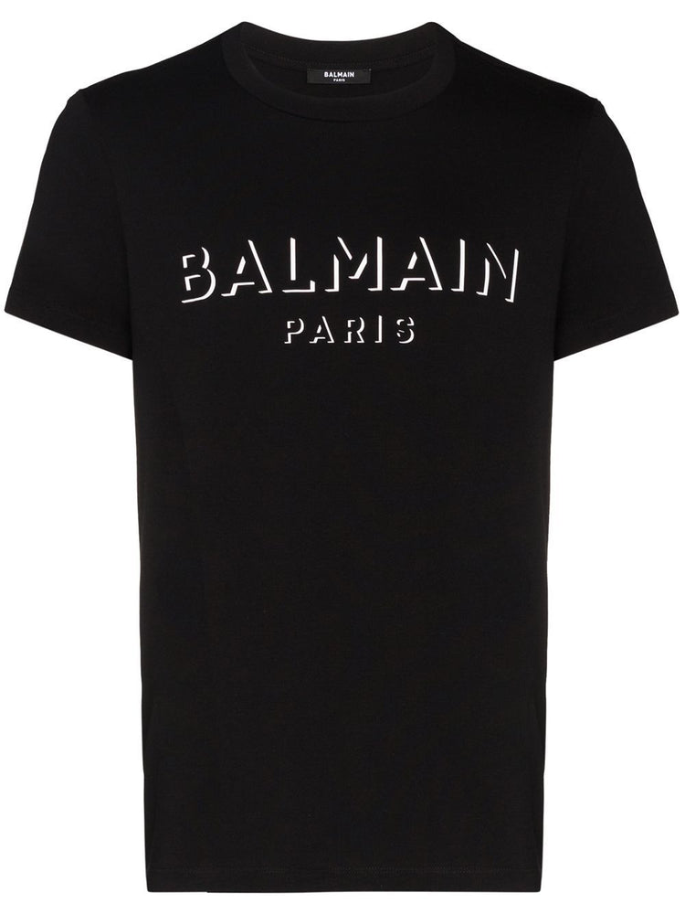 BALMAIN MEN'S 3D PRINT COTTON T-SHIRT