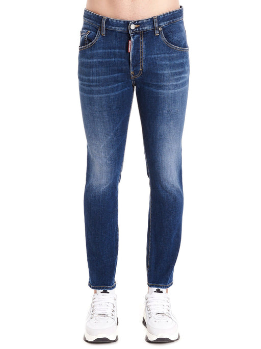 DSQUARED2 MEN'S SLIGHTLY DISTRESSED JEANS