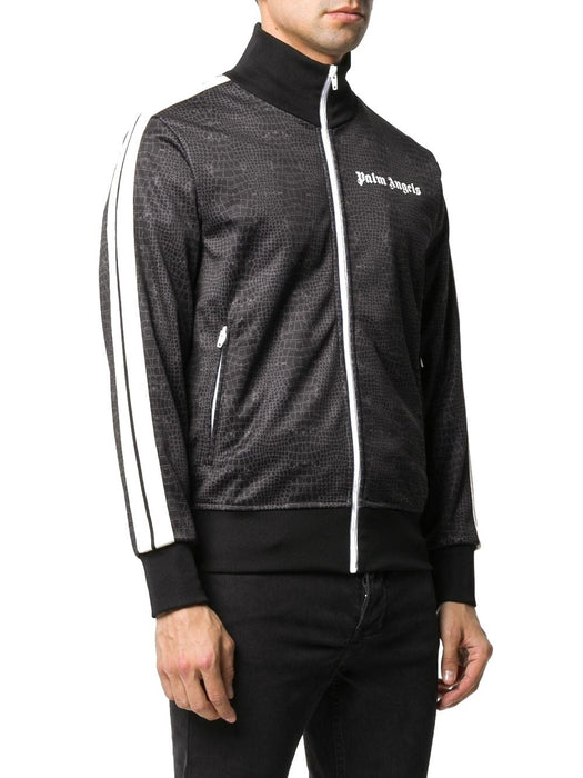 PALM ANGELS MEN'S CROCODILE-PRINT TRACK JACKET