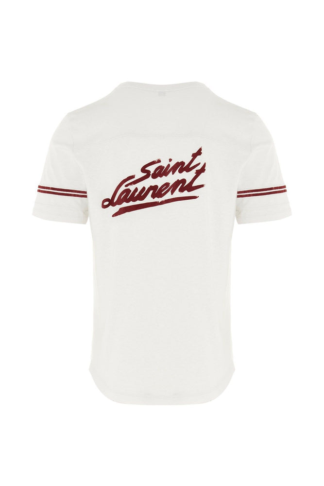 SAINT LAURENT WOMEN'S BACK PRINT T-SHIRT