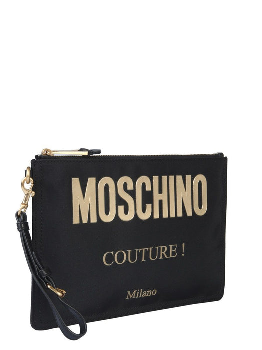 MOSCHINO COUTURE LEATHER POUCH