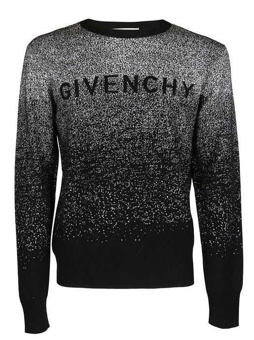 GIVENCHY MEN'S GRADIENT-EFFECT KNITTED SWEATER
