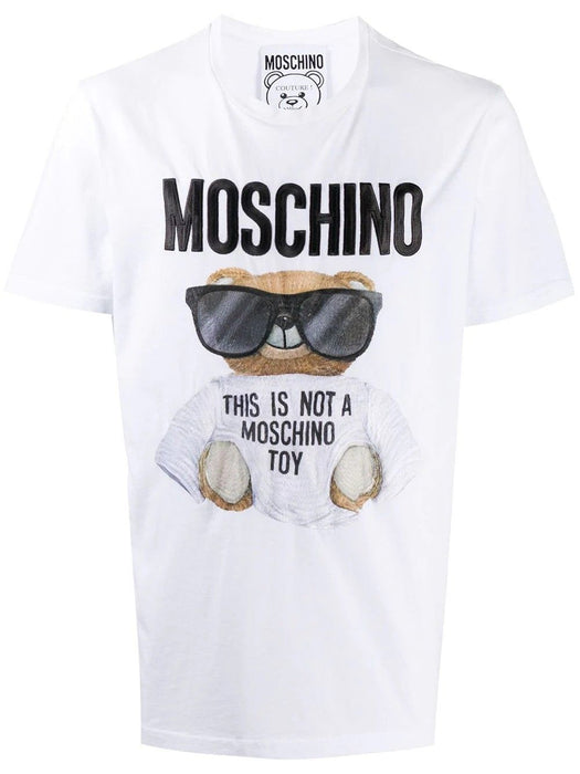 MOSCHINO MEN'S TEDDY PRINT COTTON T-SHIRT