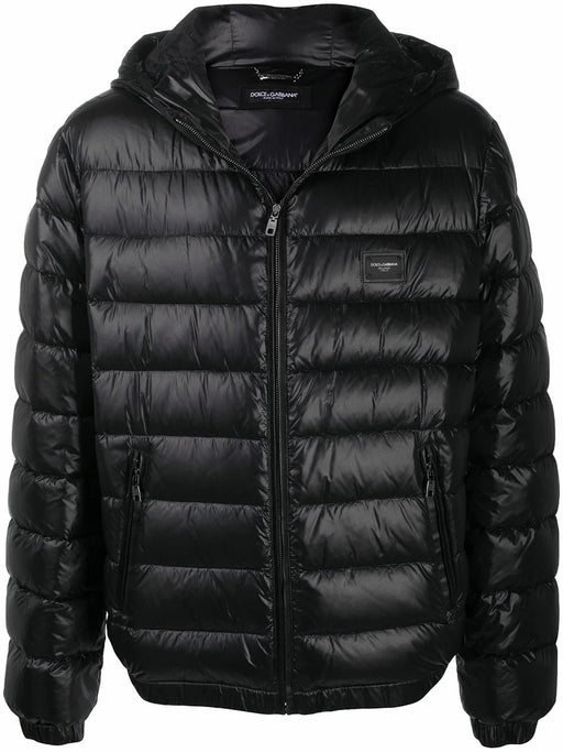 DOLCE & GABBANA MEN'S BLACK QUILTED DOWN DNA JACKET