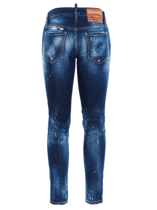 DSQUARED2 WOMEN'S TURN-UP DISTRESSED JEANS