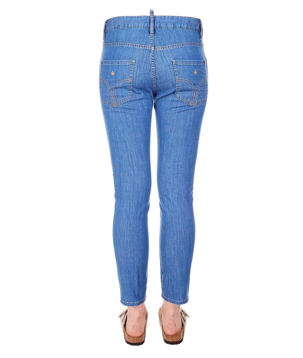 DSQUARED2 WOMEN'S BLUE SLIM JEANS