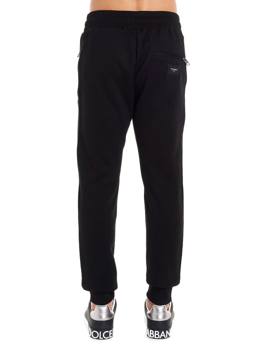 DOLCE & GABBANA MEN'S DRAWSTRING COTTON SWEATPANTS