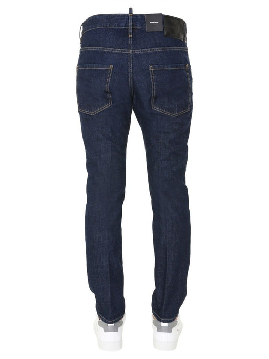 DSQUARED2 MEN'S DARK BLUE SLIM FIT JEANS