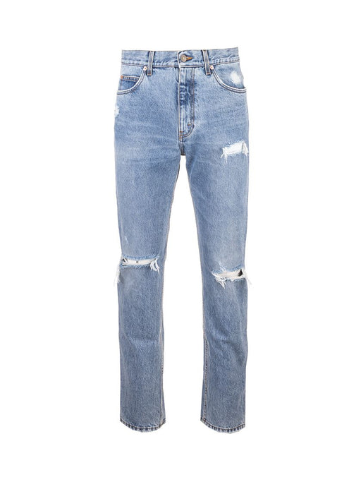 GUCCI MEN'S DISTRESSED SLIM-FIT JEANS