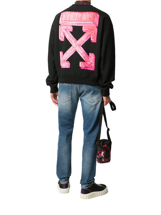 OFF-WHITE MEN'S MARKER ARROWS SWEATSHIRT