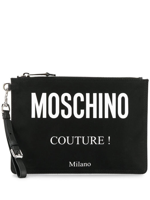 MOSCHINO MEN'S LEATHER POUCH