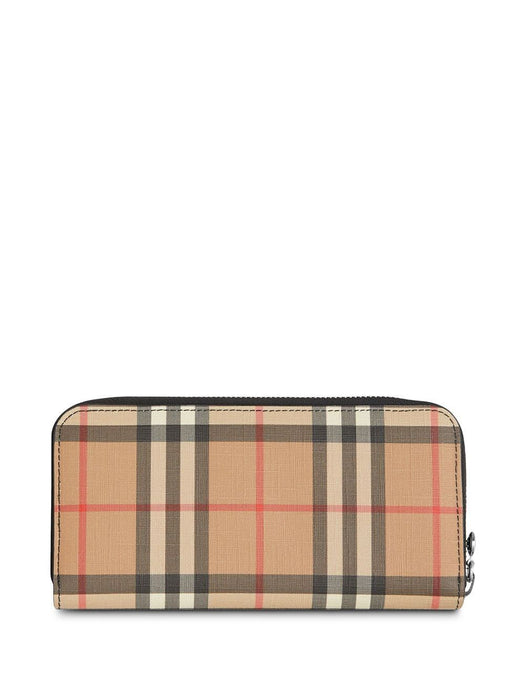 BURBERRY WOMEN'S VINTAGE CHECK ZIP AROUND WALLET