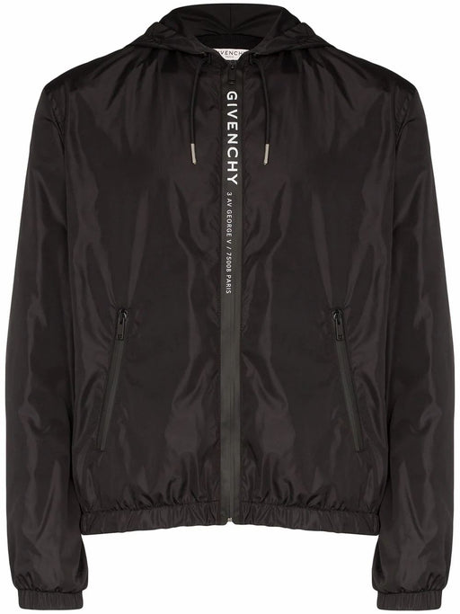 GIVENCHY MEN'S LOGO PRINT ZIP-FRONT JACKET