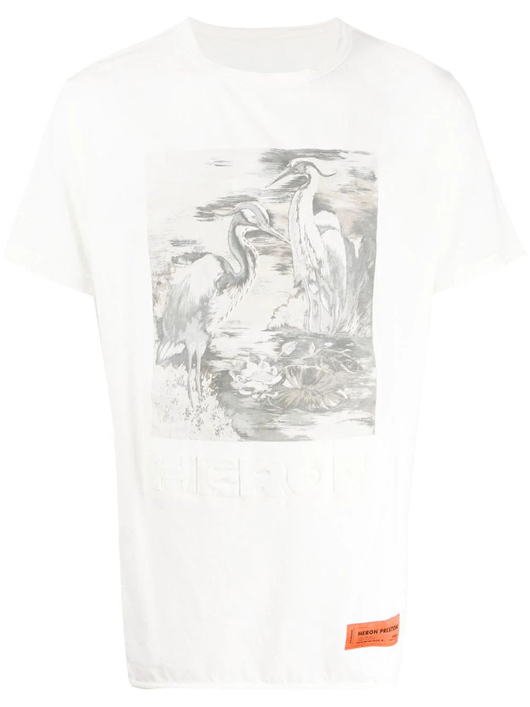 HERON PRESTON MEN'S B&W HERON TEE