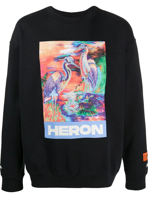 HERON PRESTON MEN'S HERON PRINT SWEATSHIRT