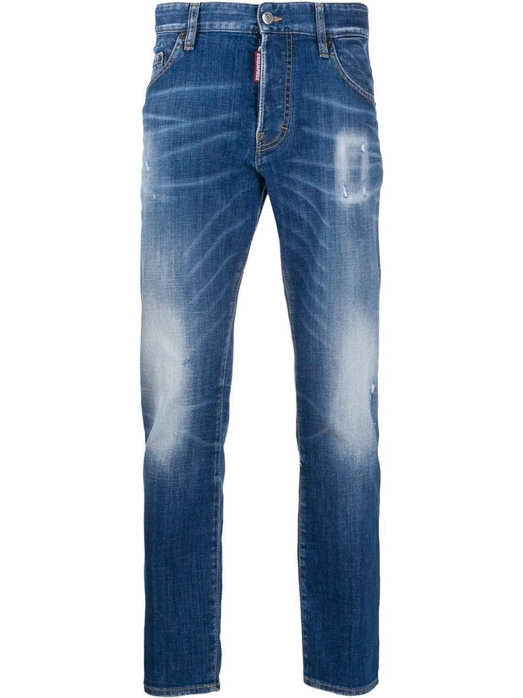 DSQUARED2 MEN'S DISTRESSED KNEES JEANS