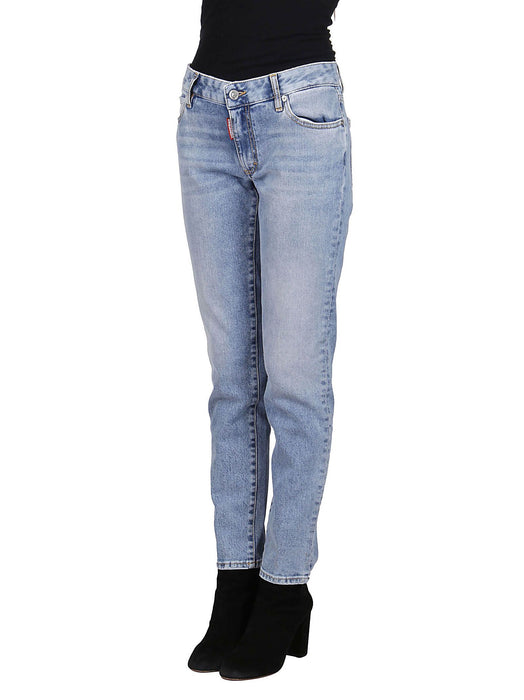 DSQUARED2 WOMEN'S LIGHT BLUE JEANS