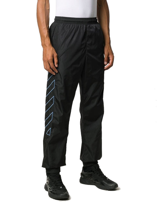 OFF-WHITE MEN'S DIAGONAL STRIPE TRACK PANTS