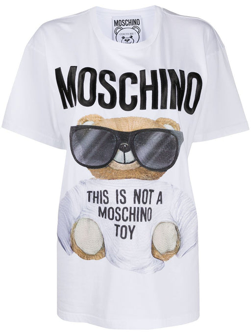 MOSCHINO WOMEN'S TEDDY SUNGLASSES COTTON T-SHIRT