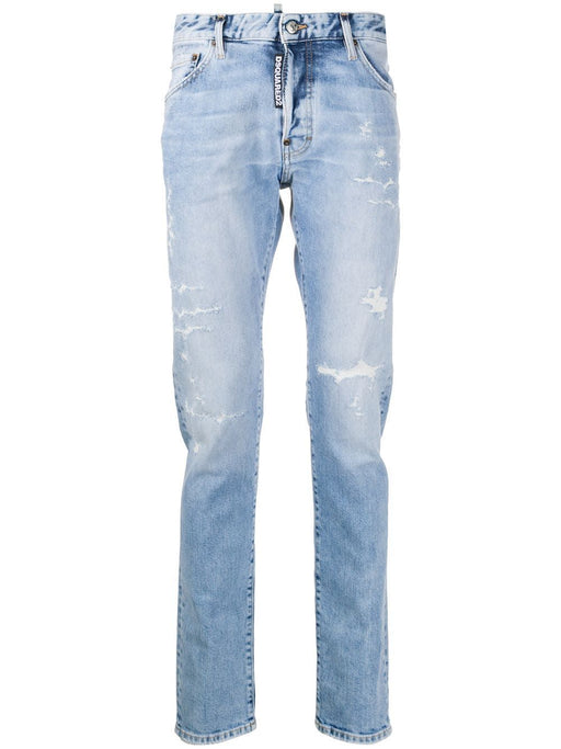 DSQUARED2 MEN'S DISTRESSED/ RIPPED SLIM JEANS