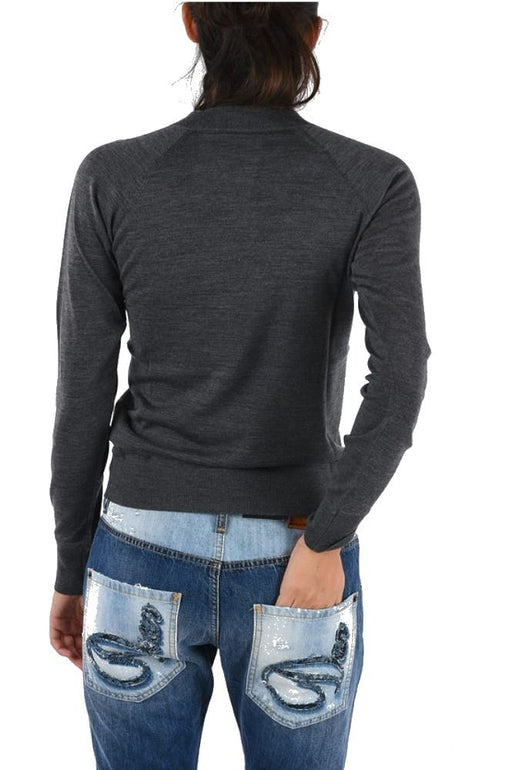 DSQUARED2 WOMEN'S GREY WOOL SWEATER