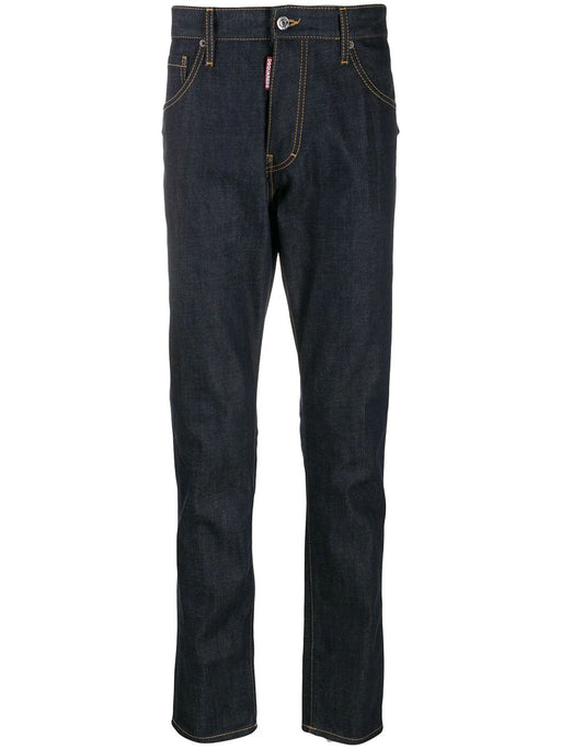 DSQUARED2 MEN'S NAVY BLUE JEANS