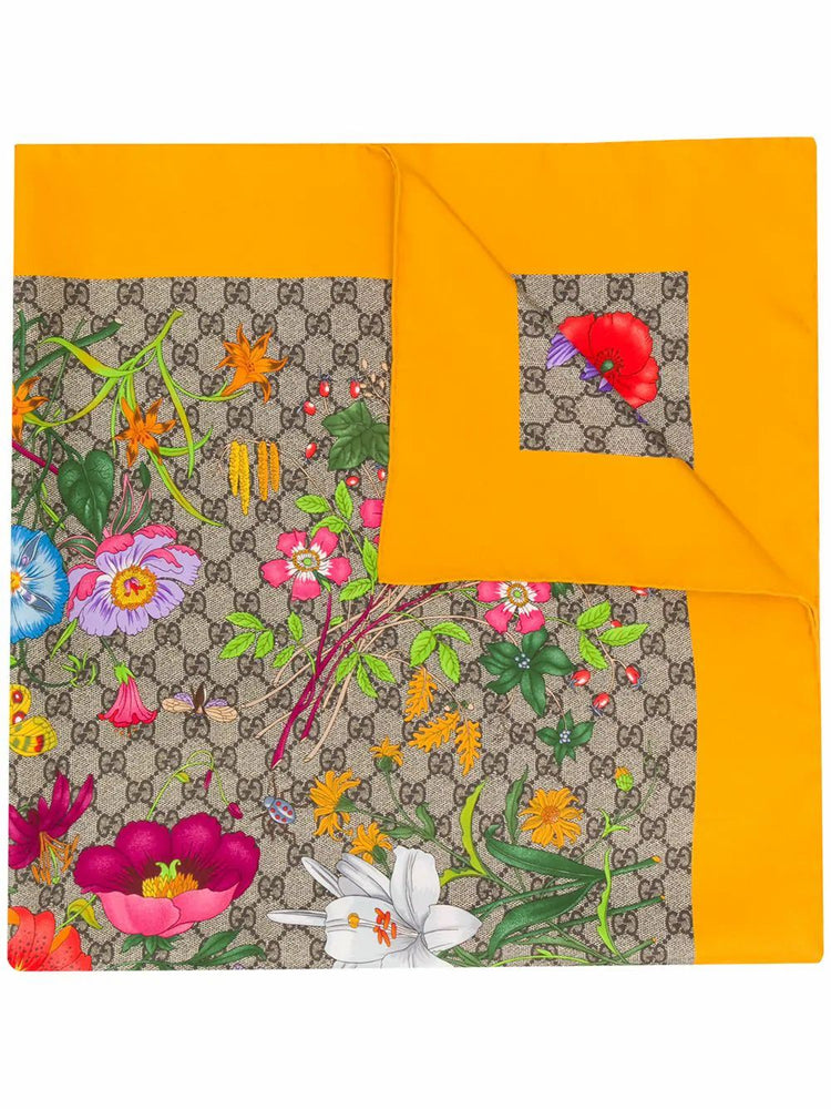 GUCCI WOMEN'S SILK FOULARD - YELLOW