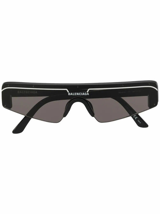 BALENCIAGA WOMEN'S SKI RECTANGULAR-FRAME SUNGLASSES