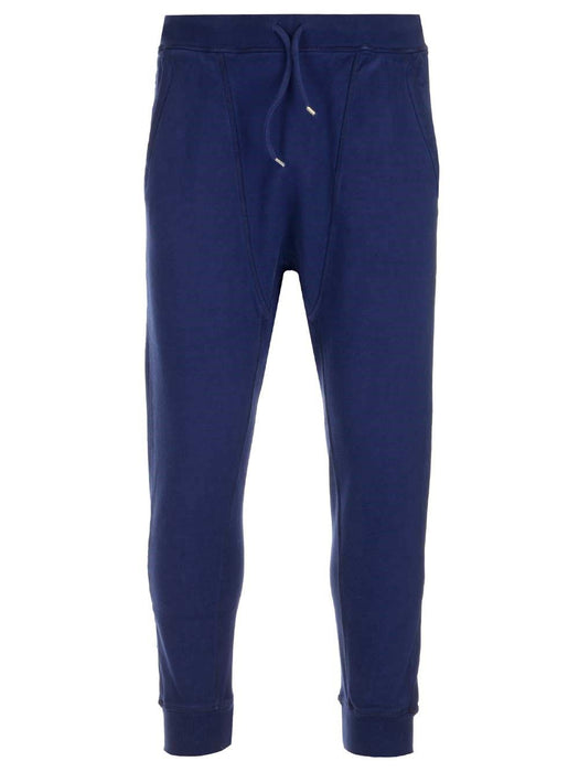 DSQUARED2 MEN'S BLUE D2 COTTON JOGGERS