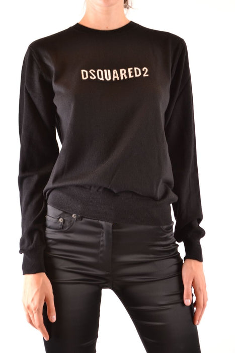 DSQUARED2 WOMEN'S CONTRAST LOGO WOOL SWEATER