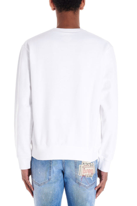 DSQUARED2 MEN'S RAINBOW PRINT COTTON SWEATSHIRT