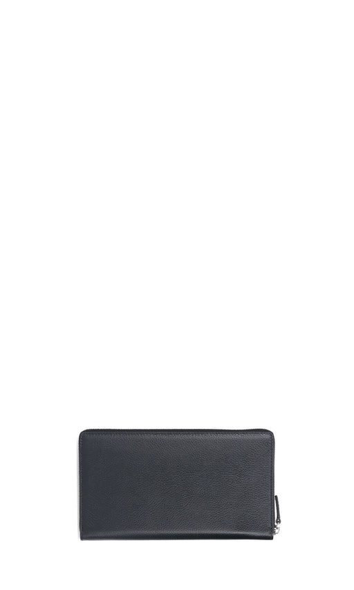 BALENCIAGA MEN'S LEATHER ZIP WALLET