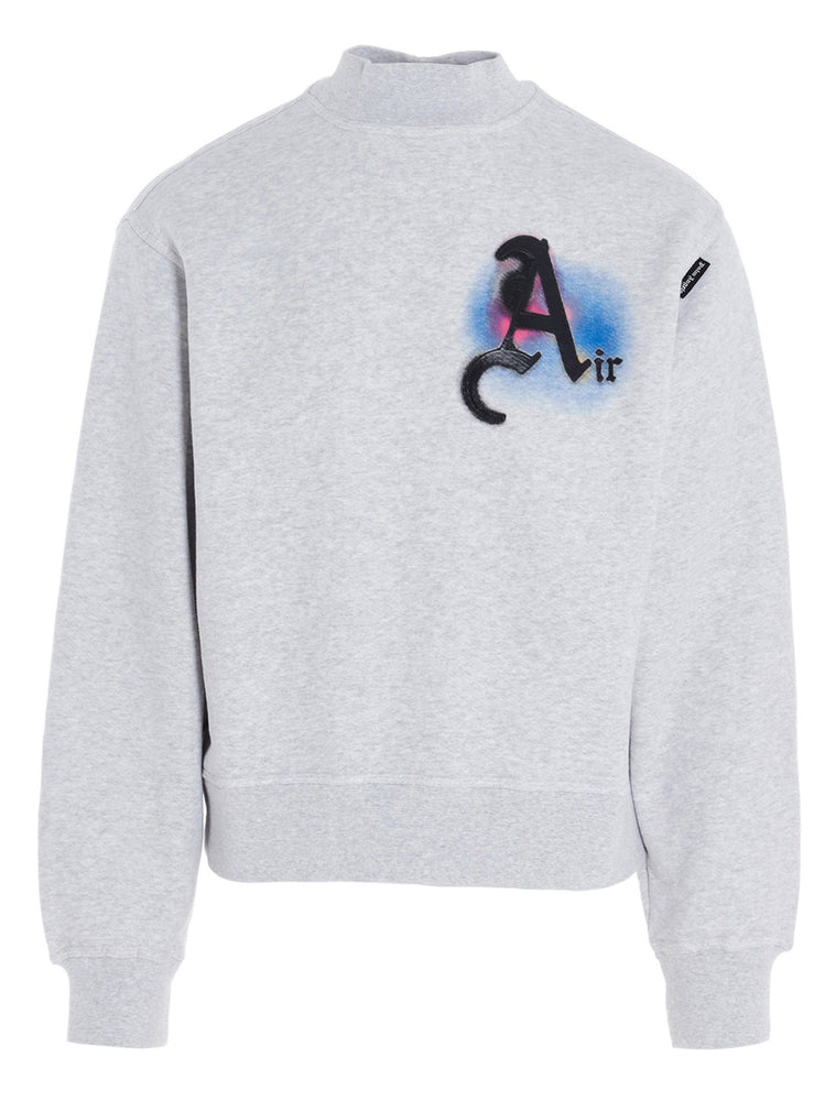 PALM ANGELS MEN'S 'AIR' PATCH MOCK-NECK SWEATSHIRT