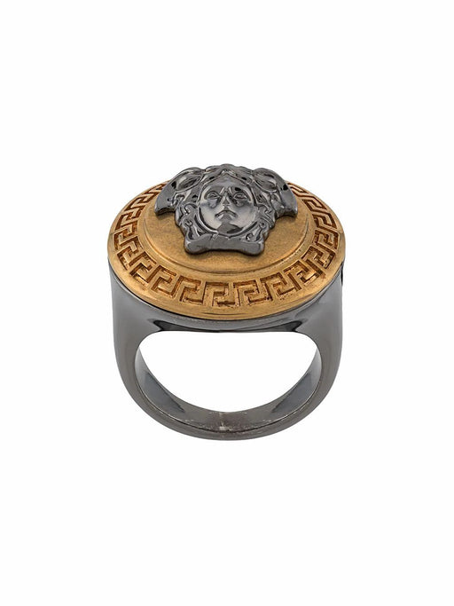 VERSACE MEN'S GOLD & SILVER RING