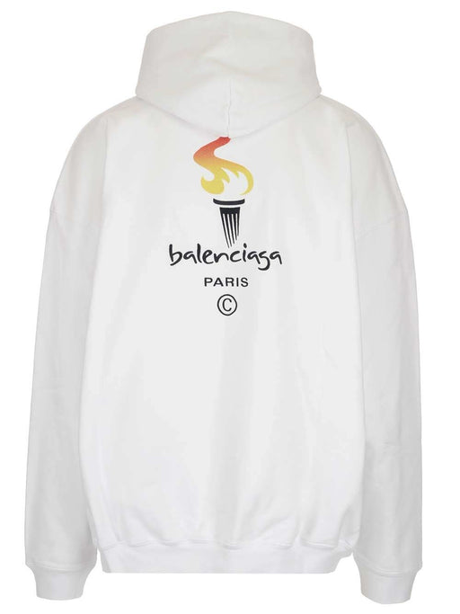 BALENCIAGA MEN'S FLAME GRAPHIC HOODY