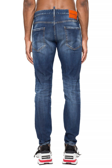 DSQUARED2 MEN'S BLUE WASH JEANS
