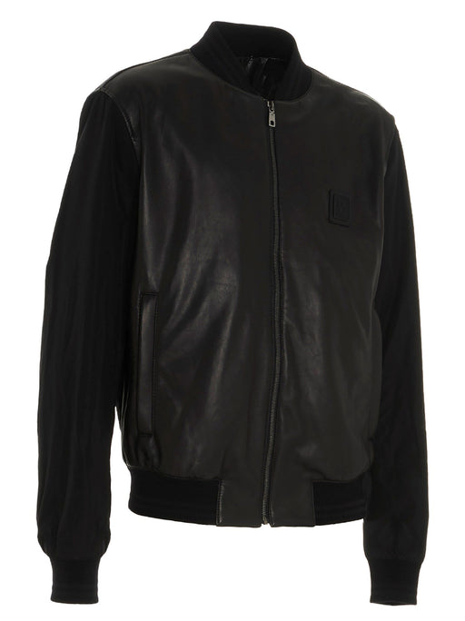 DOLCE & GABBANA MEN'S LEATHER OUTERWEAR JACKET