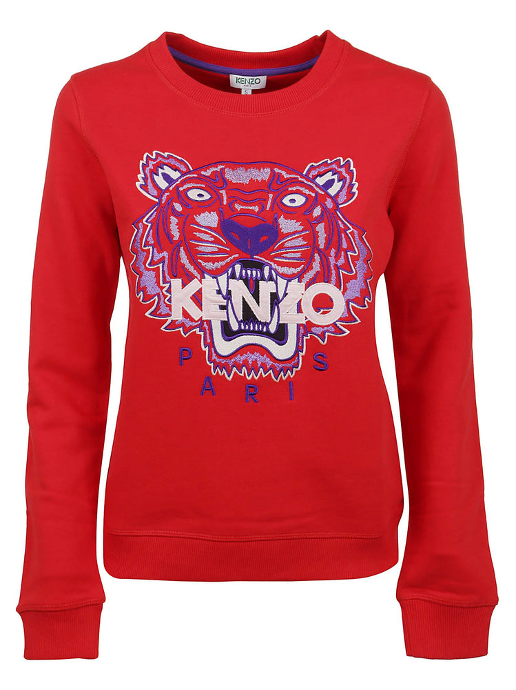KENZO WOMEN'S TIGER EMBROIDERED SWEATSHIRT