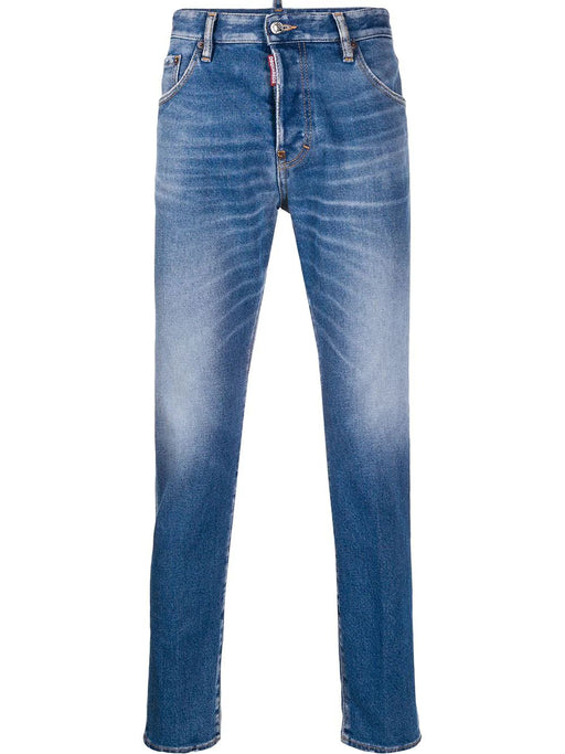 DSQUARED2 MEN'S FADED DENIM JEANS