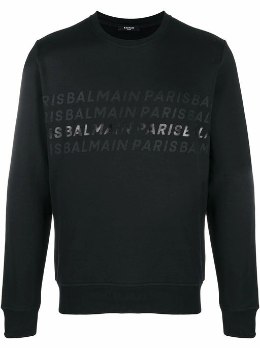 BALMAIN MEN'S REPEAT LOGO SWEATSHIRT