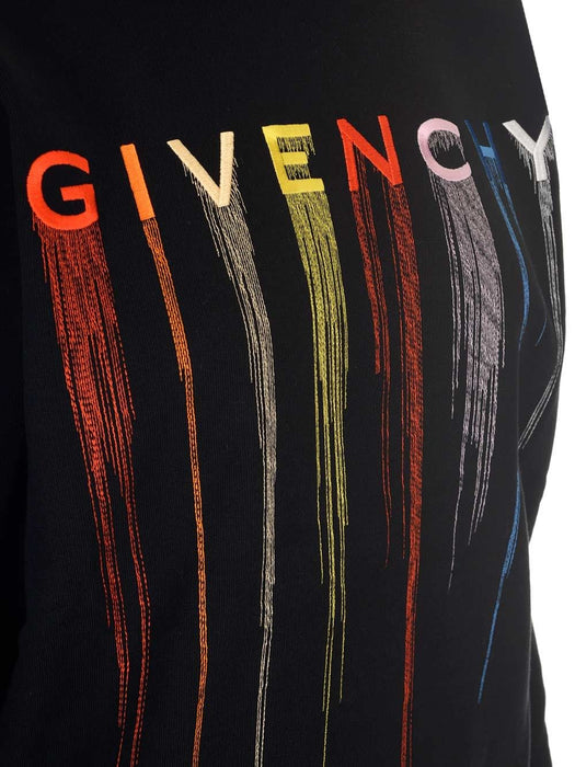 GIVENCHY WOMEN'S LOGO-EMBROIDERED SWEATSHIRT