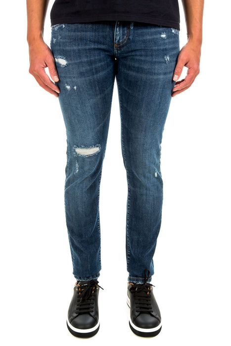DOLCE & GABBANA MEN'S DISTRESSED SLIM JEANS