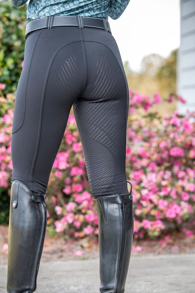 A630-1 FITS ThermaMAX breeches NOIR black reflective belt loops thick warm
