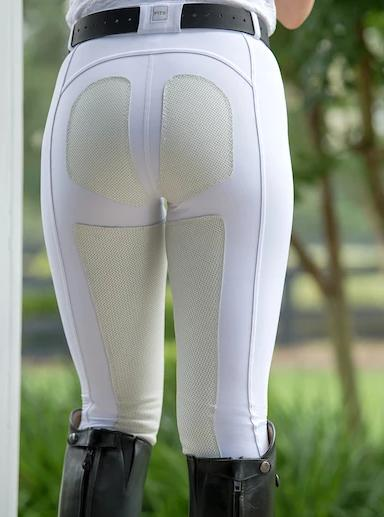 FITS PerforMAX Zip Front Full Seat Breech has matching white leather patches