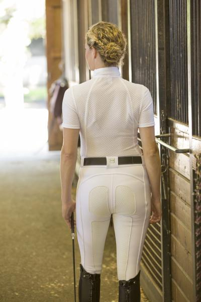 FITS PerforMAX Zip Front Full Seat Breech, Zip Pocket with perforated and segmated leather