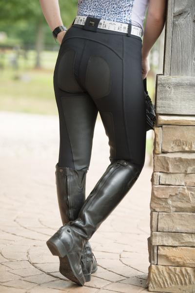 FITS TechnoMAX Full seat Front Zip breeches with faux leather patches